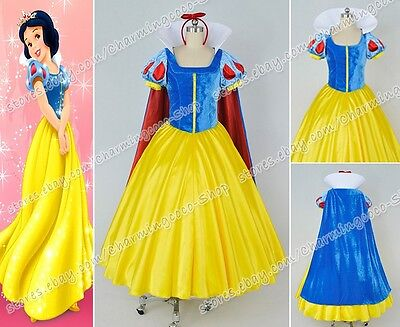 Snow White and the Seven Dwarfs Cosplay Snow White Costume Dress Clothing