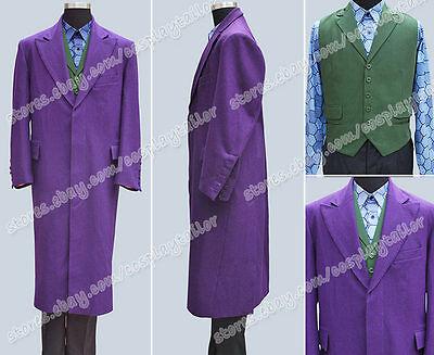 Batman Joker Purple Trench Coat Jacket Cosplay Party Popular Costume Halloween