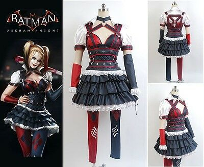 Batman Arkham Asylum City - Harley Quinn Cosplay Fancy Dress Costume