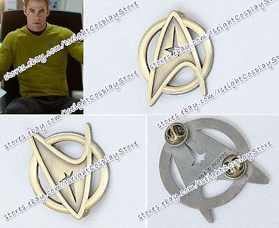 Star Trek Cosplay Voyager Command Party Badge Brooch Halloween Emblem Gold New - Star Trek Halloween Party