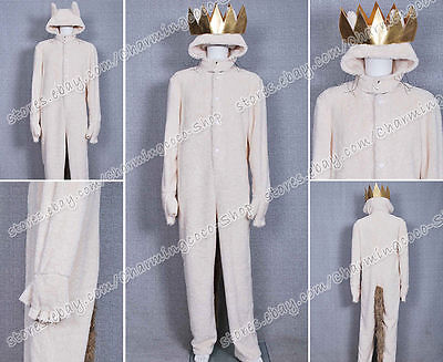Where the Wild Things Are Cosplay Wolf Max Records Costume Hoodie Jumpsuit Coat ](Wild Things Max Costume)