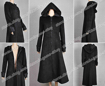 Twilight Movie New Moon Cosplay Costume Volturi Jane Black Coat Wool - Jane Halloween Costume Twilight