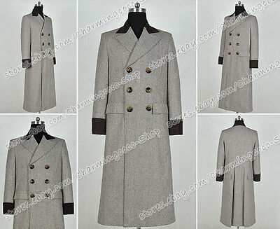 Costume Purchase (Who Purchase Doctor Cosplay Costume Dr. Wenge Brown Long Trench Coat Hot)