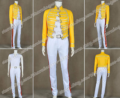 Queen Band Cosplay Lead Vocals Freddie Mercury Kostüm Wembley Stadion - Freddie Wembley Kostüm
