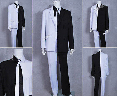 Batman Cosplay Two Face Man Costume Suit Two-Face Uniform White Black Outfits - Two Face Cosplay Suit