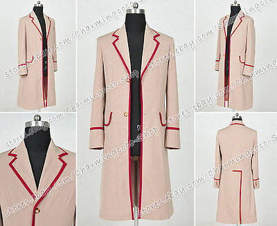 New Who Is Doctor The Fifth Dr Peter Davison Cosplay Coat Red Jacket costume
