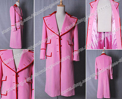 Cosplay From Who Is Doctor Dr. Pink Trench Coat Female Costume High Quality
