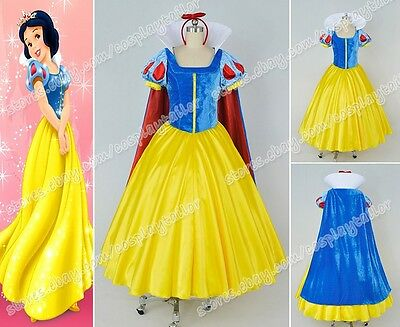 Snow White and the Seven Dwarfs Snow White Cosplay Costume Girls Dress Popular