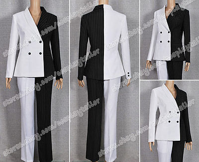 Batman Movie Lady Two-Face Costume High Quality Uniform Suit Black White Outfits - Movie Quality Batman Suit