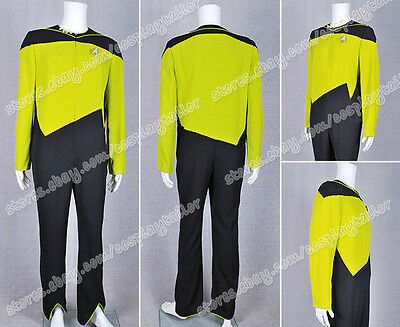 Star Trek Uniform Security/Operations Duty Yellow Jumpsuit Costume Fit You