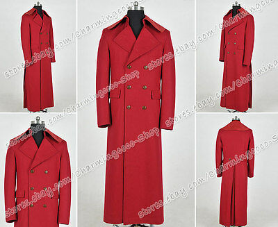 Costume Purchase (Who Purchase Doctor Cosplay Costume Popular Dark Red Wool Trench Coat)