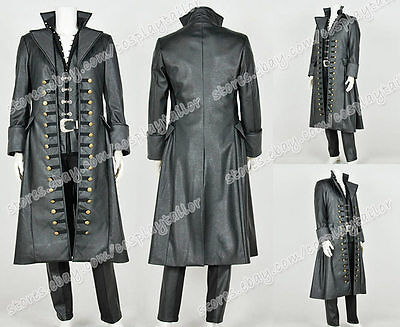 Once Upon A Time 3 Cosplay Costume Captain Hook Killian Jones Pirate Full Set