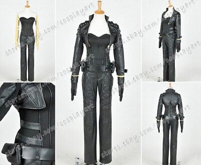 Green Arrow Cosplay Black Canary Sara Lance Costume Outfit Full Set High - Arrow Black Canary Costume