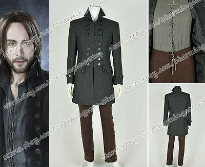Sleepy Hollow Cosplay Ichabod Crane Costume Halloween Party Men's Trench Coat