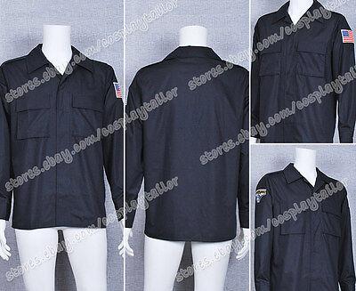 Stargate Atlantis Costume Cosplay John Sheppard Black Cotton Shirt Uniform  - Sheppard Costume