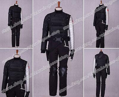 Captain America 2 The Winter Soldier Bucky Barnes Cosplay Costume Halloween Cool