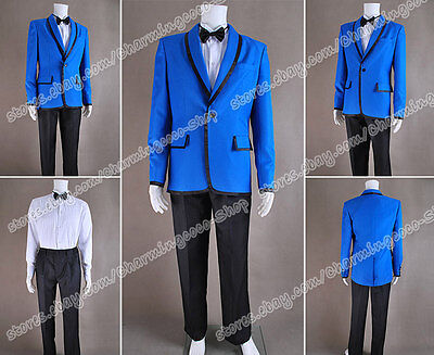 PSY Gangnam Style Cosplay Costume Blue Blazer Suit Good For Daily Wear And - Psy Costume