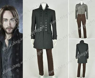 Sleepy Hollow Cosplay Ichabod Crane Costume Trench Coat Jacket Halloween Party
