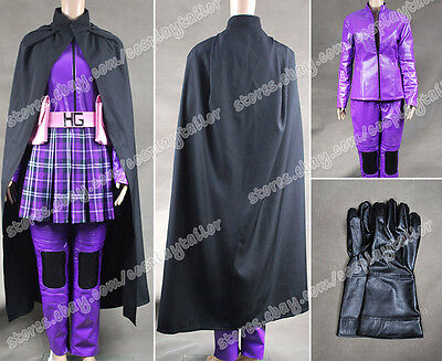 Kick-Ass Hit Girl Cosplay Costume Purple Artifical Leather Accurate Made Fashion - Hit Girl Costumes