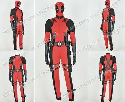 Deadpool Cosplay Wade Costume Jumpsuit Best For Party Comfortable Cotton - Best Easy Costumes