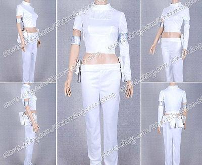 Star Wars Padmé Padme Amidala Cosplay Costume White Fight Uniform For Halloween (Padme White Costume)