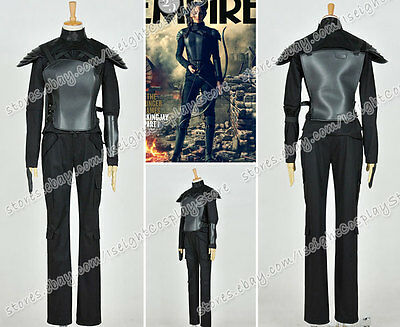 The Hunger Games Mockingjay Cosplay Katniss Everdeen Costume Black Whole - Mockingjay Outfit