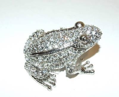 Bejeweled Frog - Frog Austrian Crystal Bejeweled Trinket Box