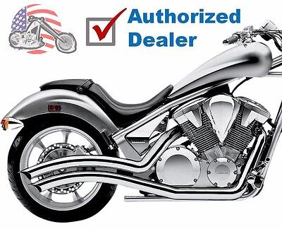 Cobra Chrome Speedster Swept Exhaust Pipes 2010-2016 Honda Fury Stateline Sabre