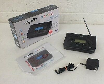 Capello CR2W Safe & Sound AM/FM/NOAA Weather Alert Clock Radio EXCELLENT LOOK