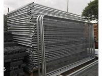 NEW round top heras fencing / site security panel