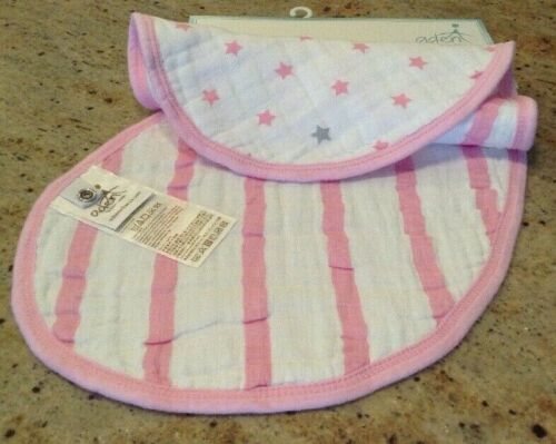 Aden And Anais New Baby Darling Pink/White Stars And Stripes