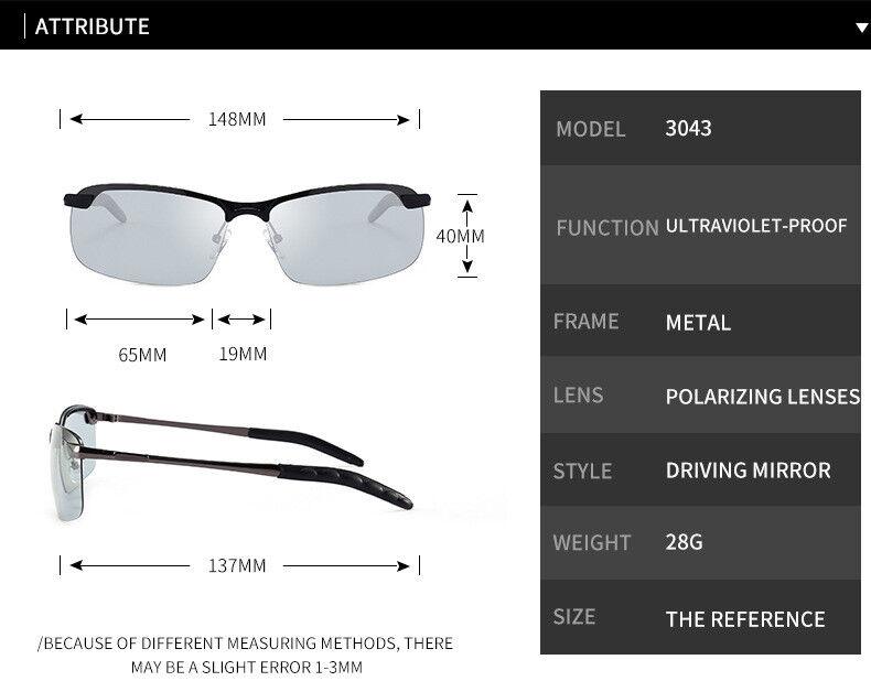 Stylish Color Changing Polarized Sunglasses Men's Sunglasses