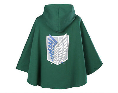 Attack on Titan Aufklärungstrupp Umhang Mantel Cape Cloak Kostüm Anime Cosplay