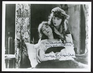 LILLIAN GISH signed and DATED 8x10 photo (w/ Dorothy in Orphans of the Storm)
