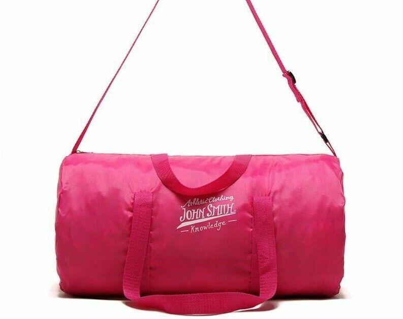 Outdoor Women Portable Gym Bags Waterproof Nylon Sport Pink