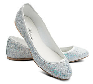 Party Shoes Flat Gold Glitter