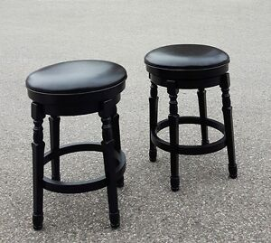 Set of 2 Backless Counter Stools