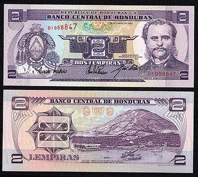 HONDURAS 2 Lempiras 1976  Banconota fior di Stampa Vendita multipla