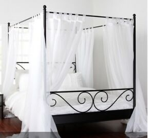 Double Canopy Bed and Mattress