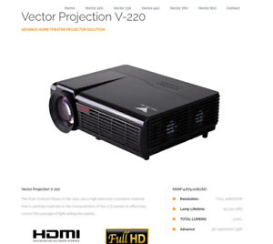 New Vector V220 4k/HD 3D Projection Home Theatere w/5.1 Surround