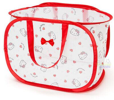 Cute Hello Kitty Foldable Laundry Toys Basket Tidy Clothes Doll Socks Storage -
