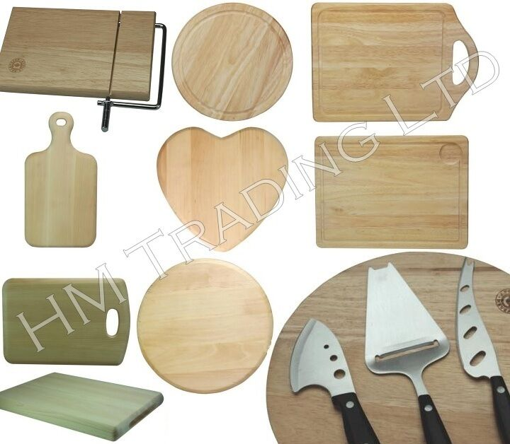 wood wooden round rectangular board roll cutting chopping dicing kitchen food ebay. Black Bedroom Furniture Sets. Home Design Ideas