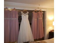 Stunning Blush Pink Bridesmiad/Prom/Evening Dress, size 8/10