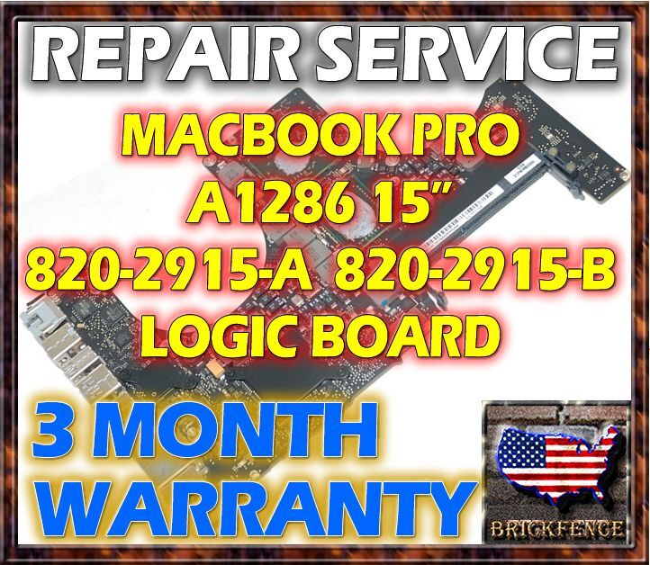 "MACBOOK PRO A1286 15"" EARLY & LATE 2011 LOGIC BOARD MOTHERBOARD VIDEO REPAIR"