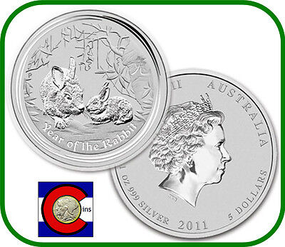 2011 Lunar Rabbit 1 oz Silver, Series II from Perth Mint in Australia on Rummage
