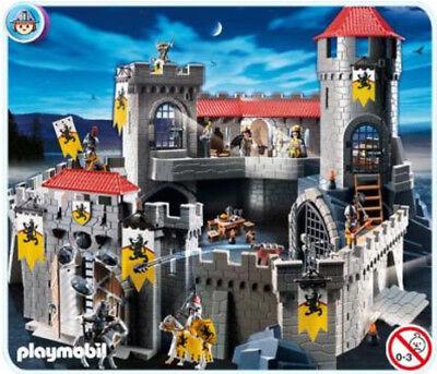 Playmobil Große Königsbritterburg 4865 mit 7478/4874 sowie Zubehör (ohne OVP)
