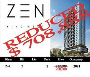 2+1 Bedrooms , 2 Baths 1 Parking Assignment Deal! King West