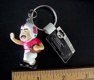 "NORTH CAROLINA STATE  Football ""Sports Tyke"" Officially Licensed Mascot keychain"