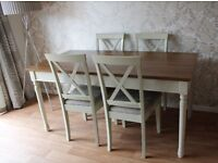Country Style Dining/Kitchen Table with 4 Chairs - Excellent Condition