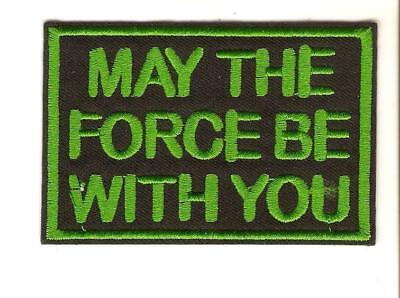 + STAR WARS Aufnäher/Patch MAY THE FORCE BE WITH YOU Schrift